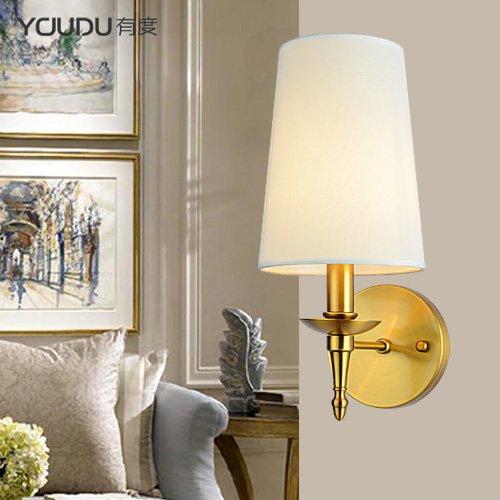Modernes Wandleuchten Vintage Loft-Wandlampen Country Wandlampe Neoklassizistisch Verkupfert Schlafzimmer Nachttischlampe Spiegel Scheinwerfer Wohnzimmer Einzelkopf Wandlampe Einzelkopf
