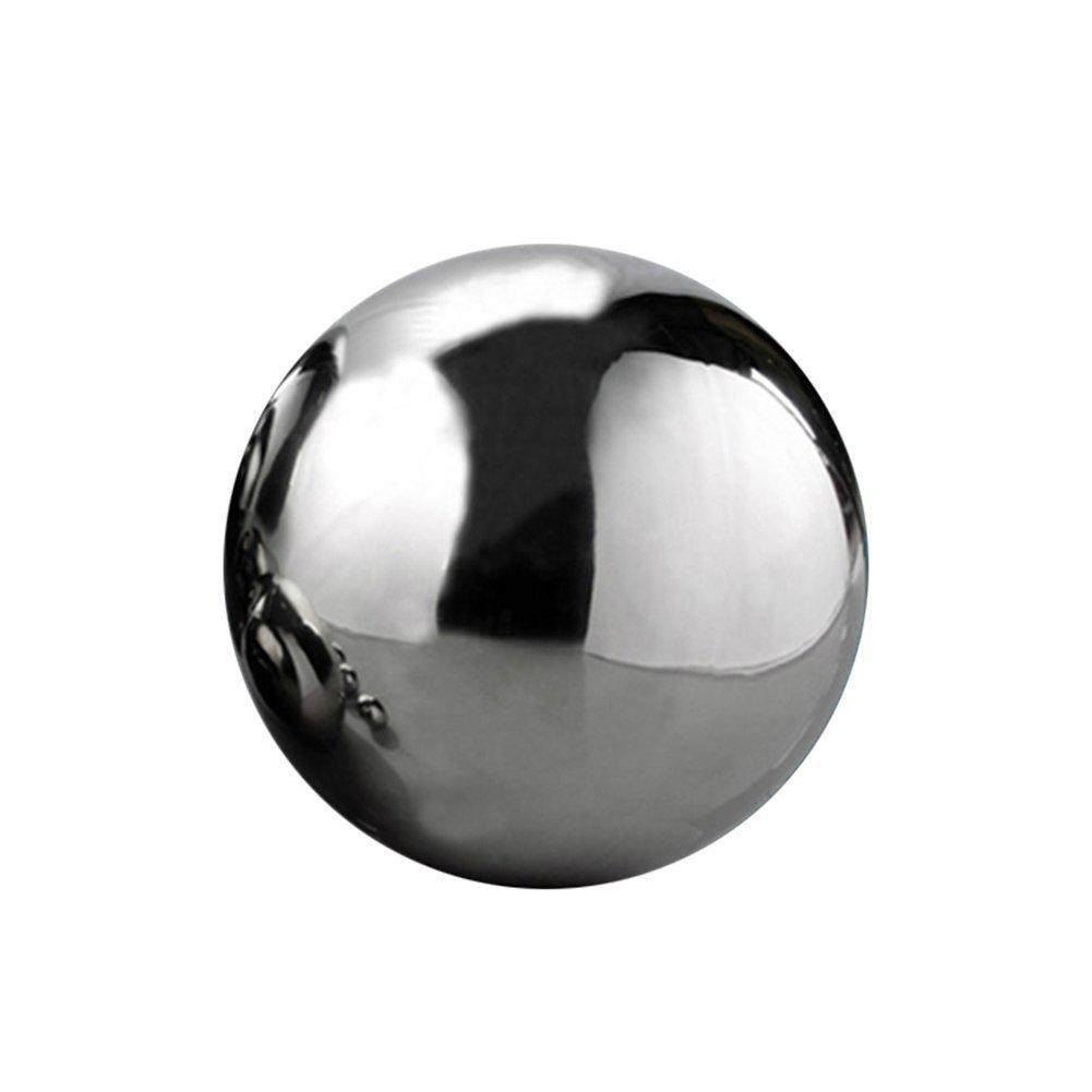 liso/ Condecoraciones de empresarial /Bola hueca decoraci/ón de la casa /Adorno de jard/ín Bola de decoraci/ón reflectante en acero inoxidable 304/ plateado