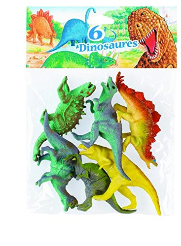 Kim'Play - 6515 - Figurine - Animal - 6 X Dinosaures