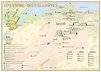 Whisky Distilleries Speyside - Tasting Map: Laminierte Tischkarte - Format 30 x 21 cm