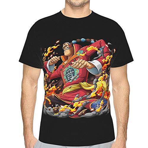 FXNOW Camiseta divertida para hombre de manga corta con diseño de Scratchmen Apoo Aka Roar O-N-E-Piece