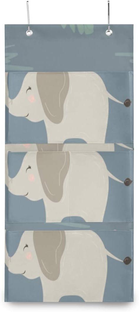 XDCGG Hanging Storage Bag Great Latest item interest Cute Elephants Door Pastel Colors Stor