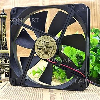 DNPART Compatible for YATE Loon YaLn Fan D14BH-12 Fan 14cm 14025 2-Wire Power Fan Mute Cooling Fan