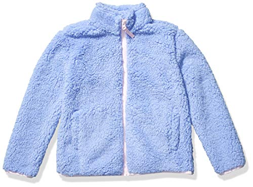 Amazon Essentials Girls' Sherpa Fleece Full-Zip Jackets, Cool Purple, XX-Large