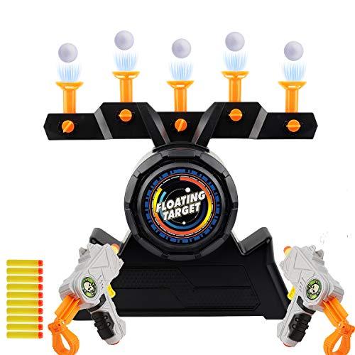 Herefun 2 Set Elektronisches Pistolenspiel für Kinder Auto Reset Elektro-Schießscheiben für Outdoor-Sportspiele Spielzeug für Jungen und Mädchen (Orange1)