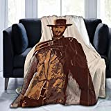 Needlove Clint Eastwood Throw Blanket Suitable Ultra Soft Weighted Bedding Fleece Blanket for Sofa Bed Office 50'x40' Travel Multi-Size for Adult