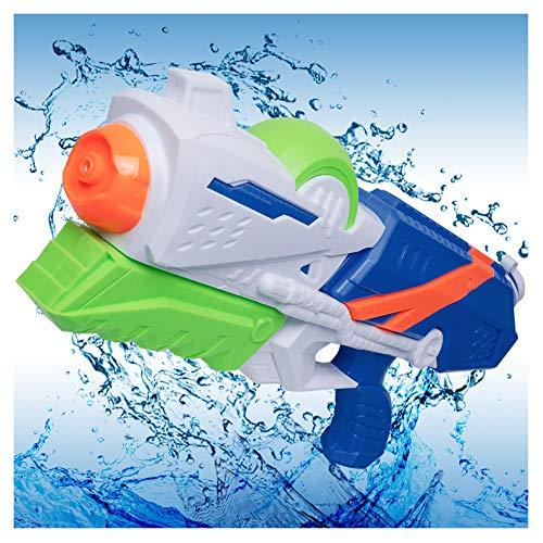 MOZOOSON Wasserpistole mit großer Reichtweite,1,2L Super Squirt Wasser Spielzeug für Erwachsene Kinder Pool Outdoor Garten Wasserpistolen Hundeerziehung