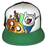 Adventure Time Treasure Cap White Green Brimmed Baseball Hat