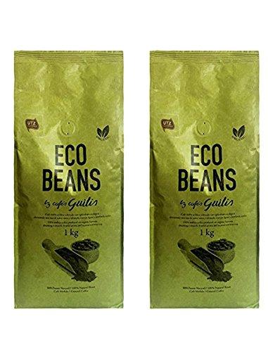 CAFES GUILIS DESDE 1928 AMANTES DEL CAFE - Molido Grano Arábica Orgánico Bio Eco Natural Tueste Artesanal 2 Kilogramos