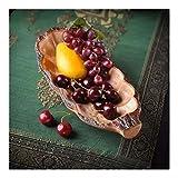 Tazón Merienda plato sala simple plato de fruta plato de fruta de frutas tazón de golosinas vajillas hogar, tazón retro