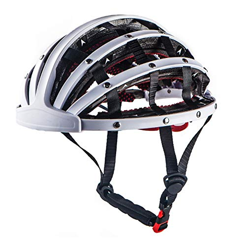 Mountain Bike Helmet Men Womens, Foldable Adjustable Lightweight Bicycle Helmet, 30Large Vent Better Cooling Suitable for Cycling,Skateboard,Silver