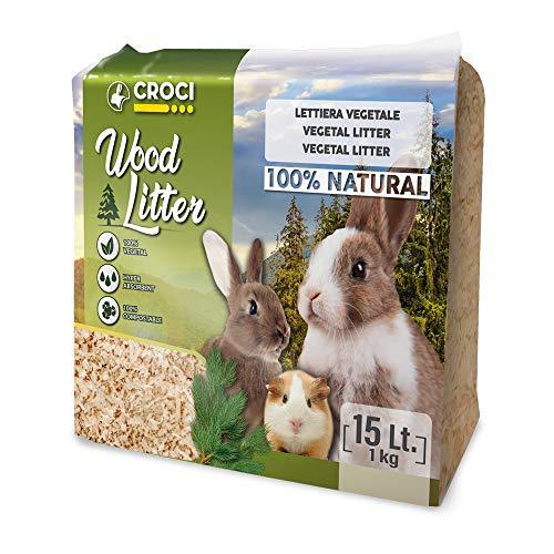 Croci R4AS0000 Wood Litter - Yacija Natural para Animales Domesticos, 1 kg ✅