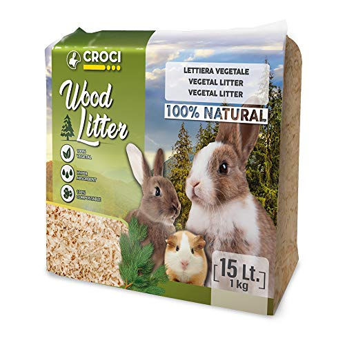 Croci R4AS0000 Wood Litter - Yacija Natural para Animales Domesticos, 1 kg