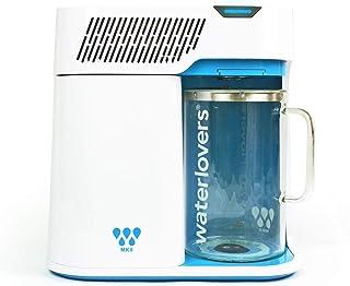 Waterlovers MKII waterdestilleerapparaat met Smart Technologie - roestvrij stalen koker en 2,8 l glazen kan (wit)