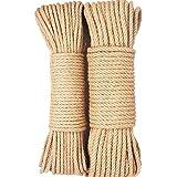 OSHA HJWMM Cuerda De Bricolaje, Hilo Natural Yute, Fibra Natural De Alta Resistencia para Proyectos De Artesanía Envolviendo El Empaque De Jardinería (Color : Natural, Size : 6mm-200m)