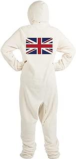 CafePress - Flag of The United Kingdom - Novelty Footed Pajamas, Funny Adult One-Piece PJ Sleepwear