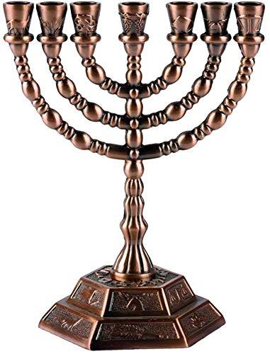 Vela judía Holylandmarket Menorah – 7 Ramas – 12 tribus de Israel Menorah