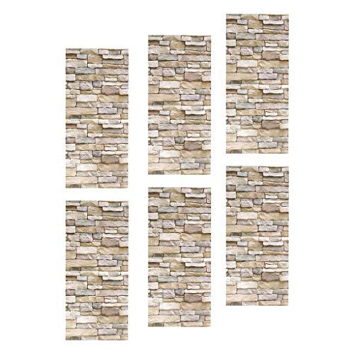 Gazechimp 6X Pegatinas de Pared Calcomanías de Pared Autoadhesivas Decoración de Sala de Estar de Arte