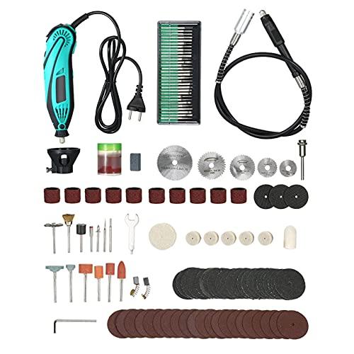 Taladro inalámbrico 120 unids Mini Taladro eléctrico Tallado Rotativo Pulido Máquina de pulido Herramienta de alimentación Juego +6 Posición Velocidad variable para Rotary Por byolpmkk