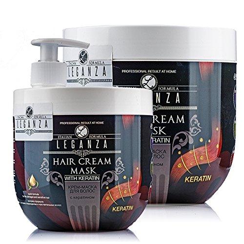 Mascarilla Crema para el cabello con Keratina, Leganza