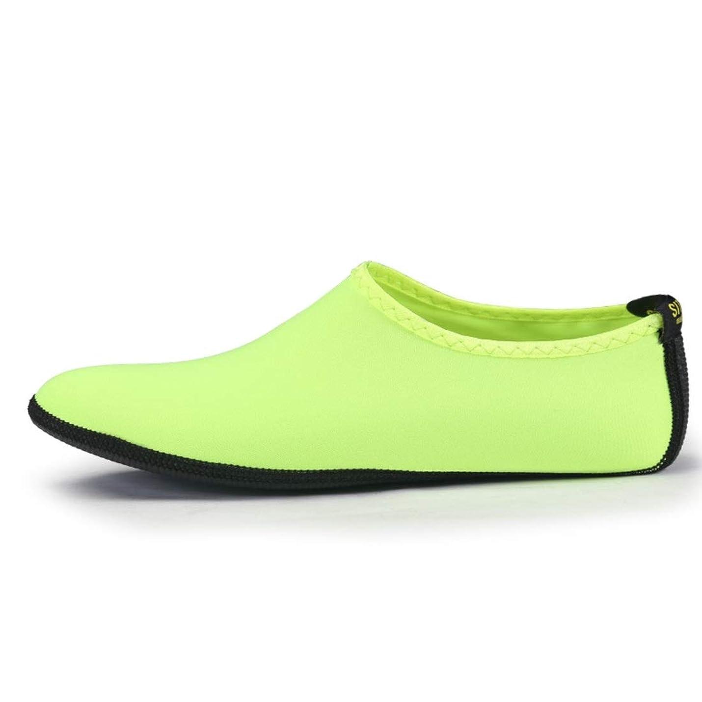 プロフェッショナルコンサートソーシャルJOYS CLOTHING 新しいマルチカラーの男性と女性のダイビングソックスシュノーケリングソックス大人のビーチソックスシューズスリップ (Color : Green, Size : M)