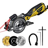 Ginour Mini Sega Circolare, 710W 3500RPM Sega Circolare Con 3 Lame, Guida Laser,Profondito...