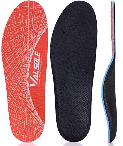 VALSOLE Zapatos Plantillas-Mujer-Hombre-arco-soporte Ortopédicas Plantillas Alivio del dolor en el pie para la fascitis plantar, pie plano, espolones en el talón (38-39 EU (250mm), Orange-V125)