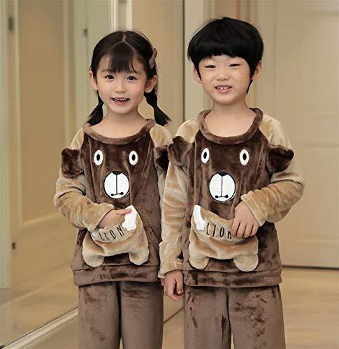 WJCRYPD Ensembles de Pyjama Les Pyjamas d'enfant Ensemble De Nuit Bébé d'hiver Chaud Pyjamas d'enfants Garçons Nigthwear Filles Homewear Bébé Pijama Childish Sommeil Suit Qf Shop