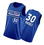 DFGHU Camiseta de baloncesto para hombre Knick de manga corta de secado rápido y transpirable Randle Jersey #30 Azul, azul, XL