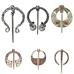 Premium zinc alloy material: Vintage viking brooch is made of high-quality zinc alloy material, not easy to rust and break, light and durable. With a classic and retro silver and rose gold surface, it is not easy to fade, and it can maintain the orig...