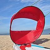 Kwasyo Hoomya 42 Pollici 106cm Downwind Kayak Vela Remo, Canoa Kit Sail Immediato - Installazione Facile & Implementare Velocemente & Portatile & Compatto (Rosso)