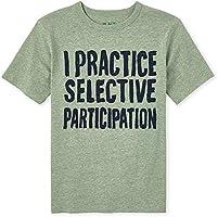 The Children's Place Boys' Selective Participation Graphic T-Shirt, Olive Press