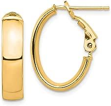 14k omega back earrings