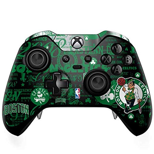 Skinit Decal Gaming Skin Compatible with Xbox One Elite Controller - Officially Licensed NBA Boston Celtics Historic Blast Design