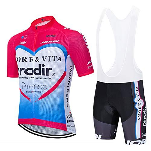 CHHBS Sportbekleidung Fahrrad-Club Cycling Team Bekleidung Jersey Shirts Kurze Hosen Set Schnelles Trocknen Radsport Anzüge für Sommer