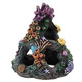 Primlisa Arrecife de coral, decoración para acuarios, resina sintética, para peces, gambas, escondidos, decoración de acuario, accesorios de resina