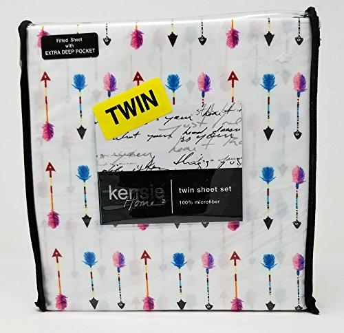 kensie Home 3 Piece Twin Sheet Set Multicolored Arrows