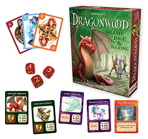 Gamewright Dragonwood A Game of Dice & Daring Board Game Multi-colored, 5'