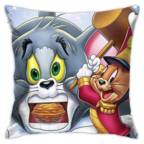 qidong Tom&Jerry Pillowcase Sofa Home Soft and Cozy Pillowcase 1818 Inches