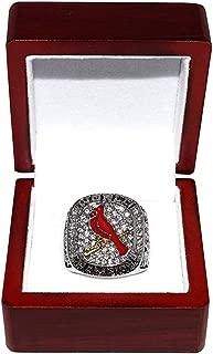 ST. LOUIS CARDINALS (Matt Carpenter) 2011 WORLD SERIES CHAMPIONS Rare & Collectible High-Quality Replica Baseball Silver Championship Ring with Cherrywood Display Box
