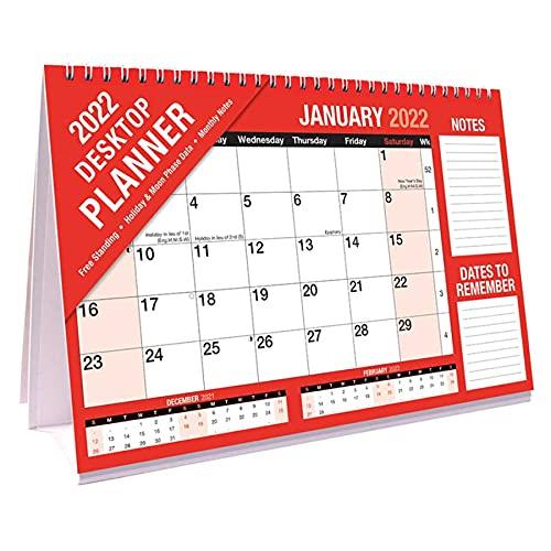 2022 Month to View Desktop Planner Calendar 3814