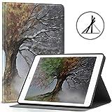 Funda para iPad para niñas 9.7 Magic Nature Colorido Four Seasons Trees Fit 2018/2017 iPad 5.a / 6.a generación 9.7 Funda para iPad de Apple También para iPad Air 2 / iPad Air Auto Wake/SL