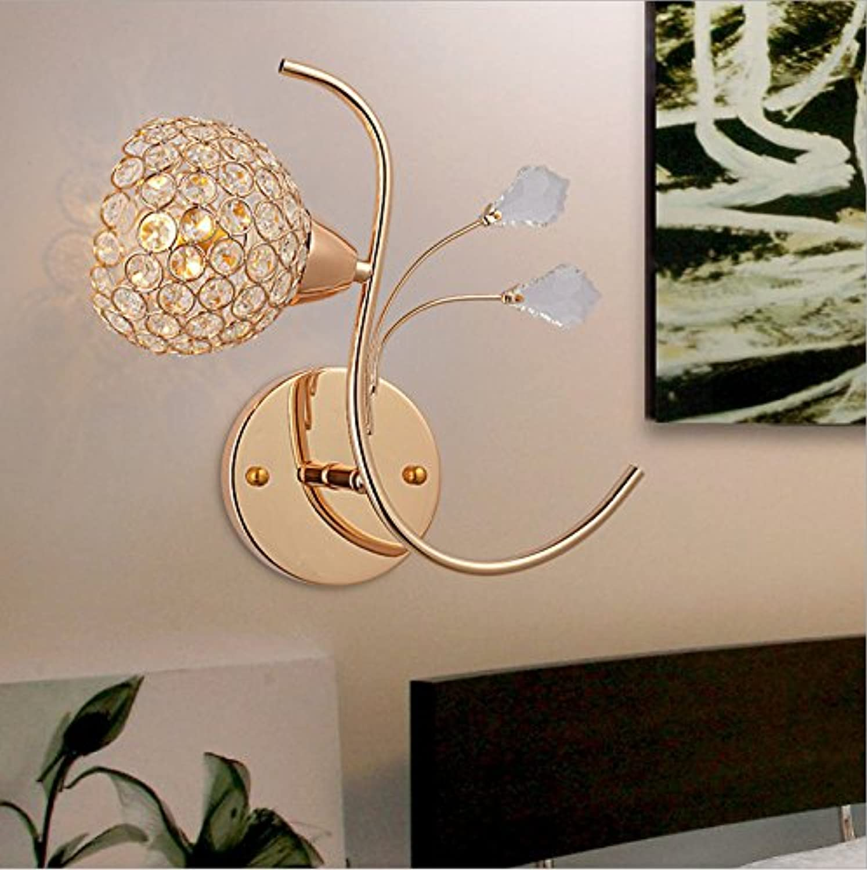 StiefelU LED Wandleuchte nach oben und unten Wandleuchten Gold Schlafzimmer Bett Zimmer Hotel Crystal Wandleuchte