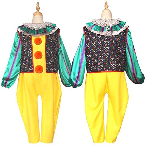 Halloween-Kostüm Clown zurück Seele Cosplay Adult Tanzen Clown Joker Outfit Partei Top und Hosen Rolle Set Spielen,Womanyellowbacksoul,L
