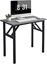 Need Small Computer Desk 31.5 inches Folding Table No Assembly Sturdy Small Writing Desk Folding Desk for Small Spaces, Gr...