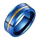 LANHI - Alianza de titanio de 8 mm para hombre, diseño de...