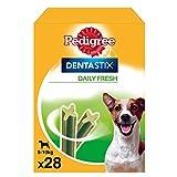 Pack de 28 Dentastix Fresh de uso diario para la limpieza dental de los perros y contra mal aliento, para perros pequeños (Pack de 4)