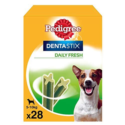 Pedigree Pack de Dentastix Fresh de uso Diario para la Limpieza Dental y Contra el Mal Aliento de Perros Pequeños (28ud)