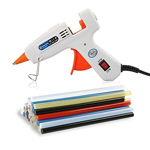 Lifegoo Upgraded Version Mini Hot Melt Gun Glue Kit with 40pcs Colored Glue Sticks for Kid DIY Small Craft Projects Quick Repairs 25-watt