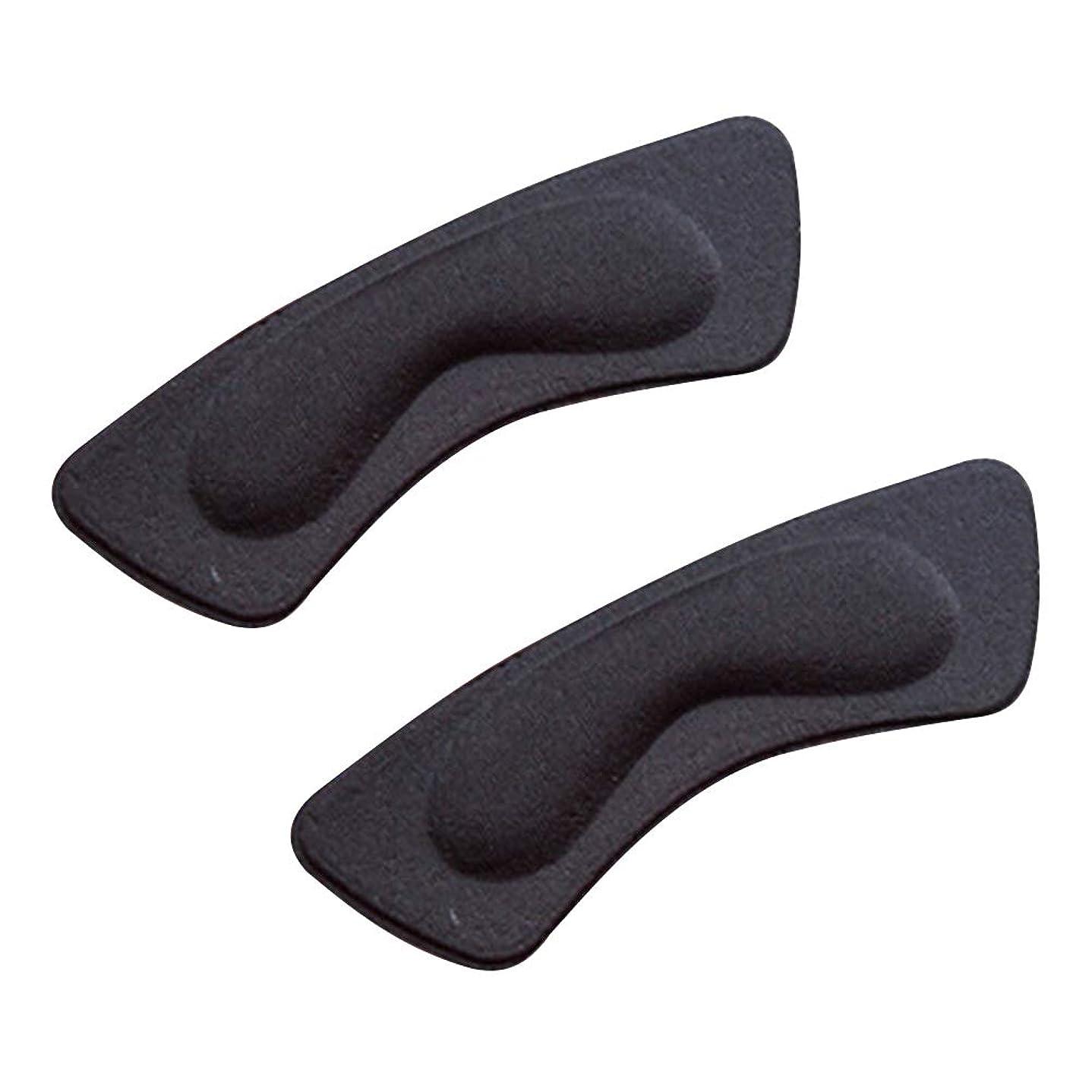 テントペナルティ呼吸kiirou 靴擦れ防止パッド パカパカ防止 かかと テープ 2足 かと パッド クッション インソール 滑り止め かかとパッド 男女兼用 ハイヒール 革靴 スニーカー サイズ調整 (2層黒)